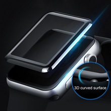 Gosear מעוקל 3D ברור נגד שריטות מזג זכוכית מסך מגן סרט עבור אפל שעון iWatch אני Wach סדרת 2 3 38mm 42mm
