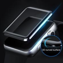 Gosear Protector de pantalla de vidrio templado curvo 3D transparente, película antiarañazos para Apple Watch iWatch i Wach Series 2 3 38mm 42mm