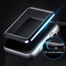Gosear zakrzywione 3D wyczyść Anti Scratch hartowanego szklany ochraniacz ekranu folia do Apple zegarek iWatch, Wach serii 2 3 38mm 42mm
