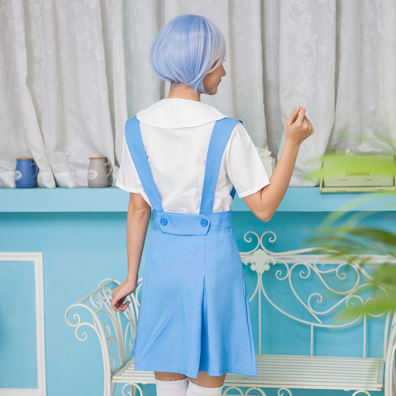 Аниме Евангелион EVA Косплэй костюм Ayanami Rei Сорю Аска Лэнгли Школьная форма Для женщин Хэллоуин Костюм Моряка