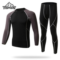 Free Shipping Hot Thermal Underwear Sets Men Sport Fleece Sweat Quick Drying Thermo Warm Clothing