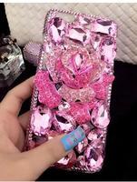 Luxury Diamond blue pink enchantress water-drop soft case for iphone 5 5s se 6 6s plus