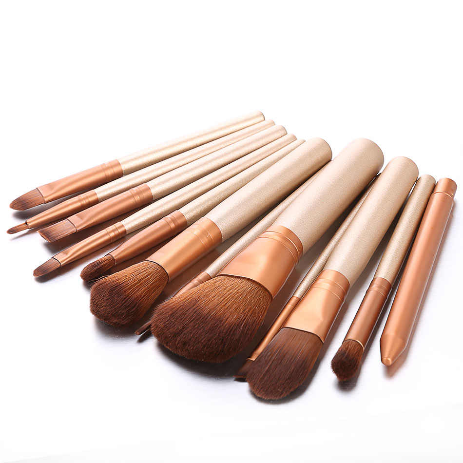 ACEVIVI 12 шт. набор кистей для макияжа Профессиональный косметический набор пудра Тональная основа тени для век подводка для глаз кисть для губ инструмент Pincel Maquiage 1
