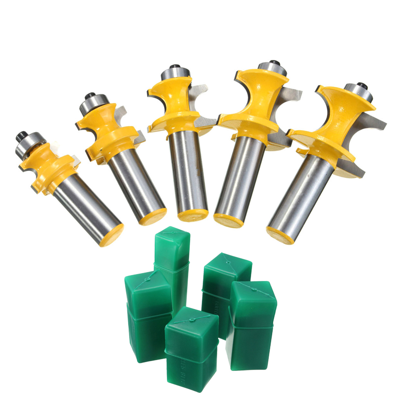 Newest 5Pcs/set Router Bit 1/2 Shank Wood Drilling Tenon Half Round Bullnose 3/8,5/16,1/4,3/16,1/8 Size Best Price best price 5pcs set 0 1mm 15 degree