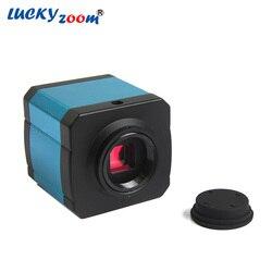 Luckyzoom HD 14MP HDMI USB cámara de vídeo Digital de la industria para el Zoom estéreo Microscopio Trinocular adaptador de Microscopio envío gratis