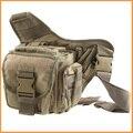 Marrón Bolsas de Cámara Socorrista R-UN Estilo Táctico 3-capas PUSH Pack Saddle Bag con Bolsas Laterales Actividades Al Aire Libre-Bolsa de Estilo