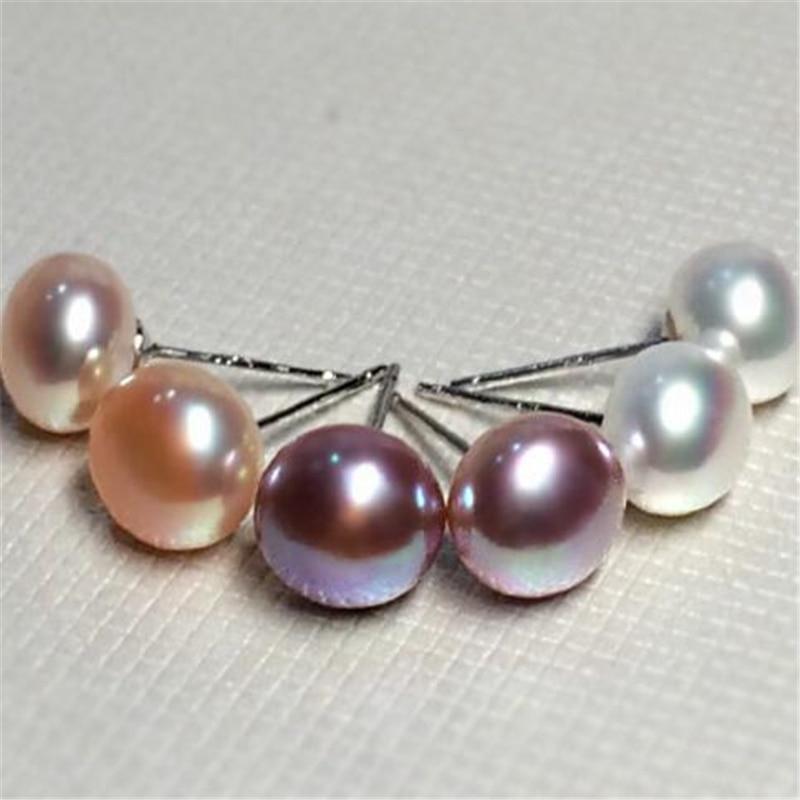 Ataullah Simple Natural Peals 925 Sterling Silver Fashion Stud - Joyas - foto 3