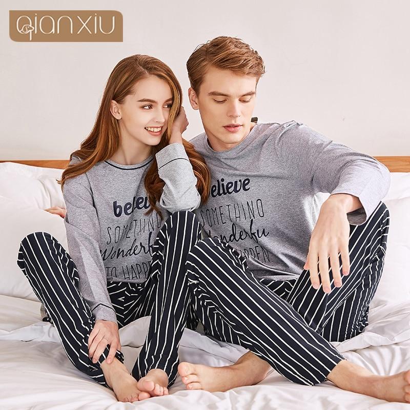 2018 New Style Couple's Pajamas Men's Cotton Nightdress Cotton Plus Size For Men  18119