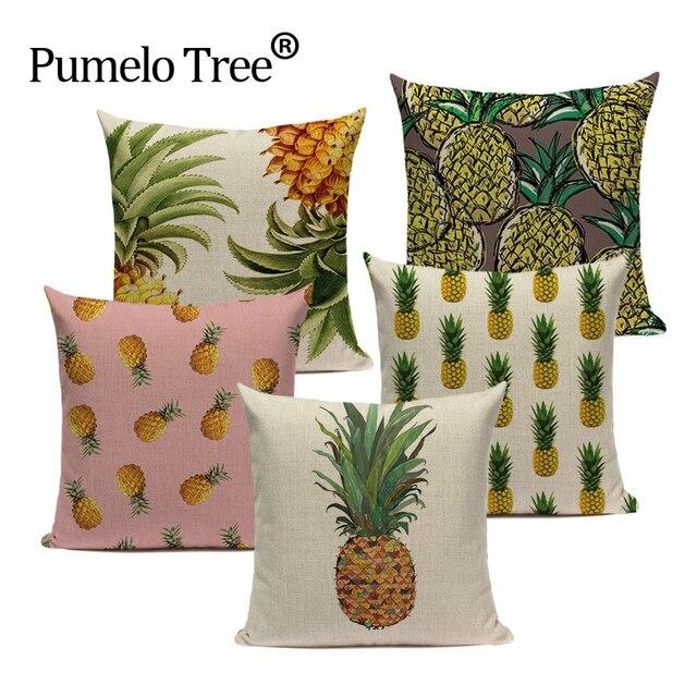 Ananas Coperture per Cuscini Biancheria di Stile Tropicale ananas Almofadas 45 C