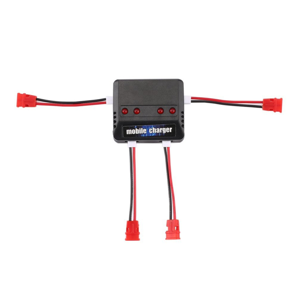 4 Pcs 3.7V 500mAh 25C Lipo Battery + 1 Pcs 4 Ports Battery Charger For Syma X5UW X5UC RC Quadcopter Drone Spare Parts