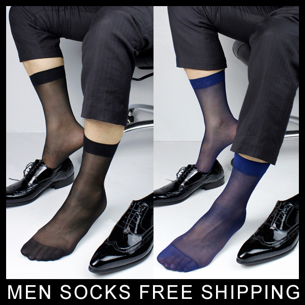 Mens Sheer Dress Socks Gentlemen At Play Men Sexy Suit Socks Formal sock SM Black/Navy Free shipping