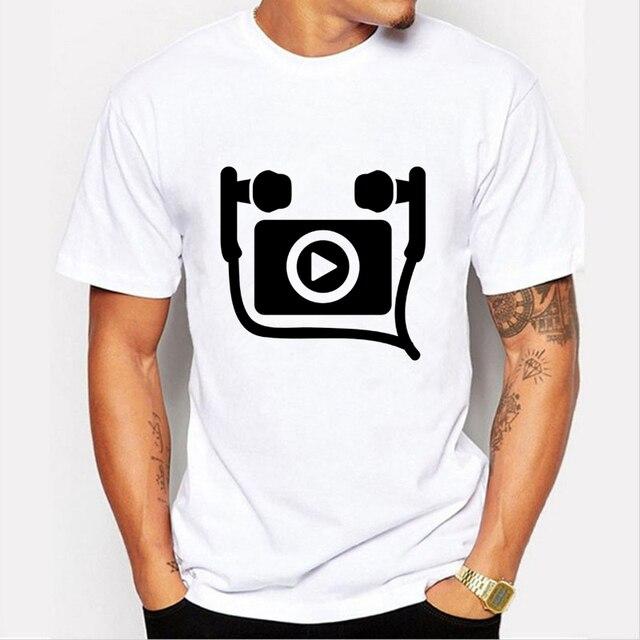 Vestiti Musica T Punk Skate Simbolo Stampato Uomo Shirt Bianco 6gyYfbv7