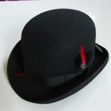 abe84e549321c New 100% Wool Hat High Quality Fashion Men s and Women s Black Cap Bowler  Hats Black