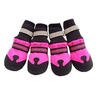Dog Shoes Plush Lining Non Slip Footwear Reflective Strip Winter Pet Shoes For Dog Pet Boots
