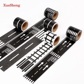 48 мм x 5 м железная дорога васи лента шириной Творческий дорожного движения клейкой ленты дороги для детей игрушки автомобиль играть