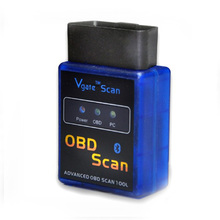 Бесплатная доставка! Последнюю версию программного обеспечения V2.1 и версия 1.5 Мини ELM 327 Bluetooth Vgate сканирования OBD2 инструмент диагностики товара Reader F50