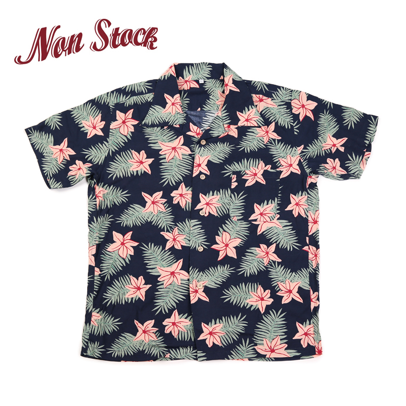 NON STOCK Summer Floral Print Hawaiian Shirts Holiday Rockabilly Short Sleeve