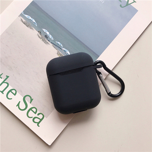 Image 3 - Liquid silicone Case For Airpods Shockproof Earphone Protective Cover Waterproof cute Headset Accessories with keychain