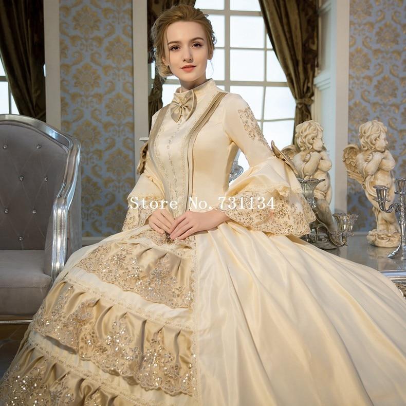 Aliexpress.com : Buy New Arrival Champagne Rococo Baroque Marie ...