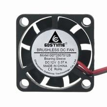 5PCS 25mm 2.5cm 25x25x7mm 2507 9 Blades GDT 2Pin 12V DC Brushless Ventilation Fan