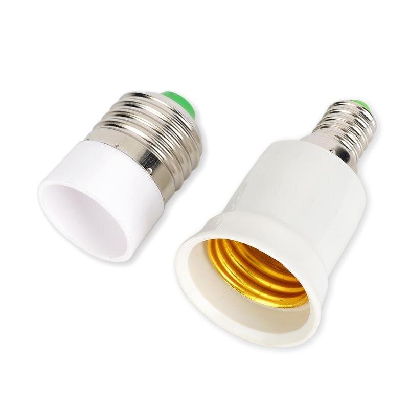 E14 to E27 Bases Screw Light Bulb Support Socket Adapter Flame Retardant Converter PBT Plastic Converter
