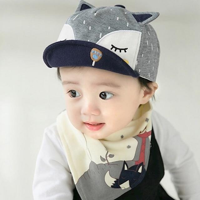 5a8a3c1bdeb Newborn Baby Baseball Caps Boys Hats Bib Children infant gorras head beanies  bebes kids Cap with
