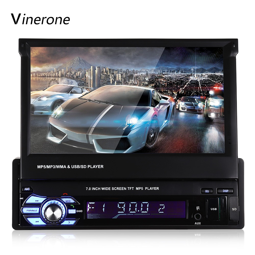 Автомобиль Радио 1 DIN 7 ''дюймовый ЖК-дисплей Сенсорный экран Bluetooth Аудиомагнитолы автомобильные USB FM MP3 MP5 Авто Радио Автомобильный Мультимедийный Плеер Авто Радио 1DIN