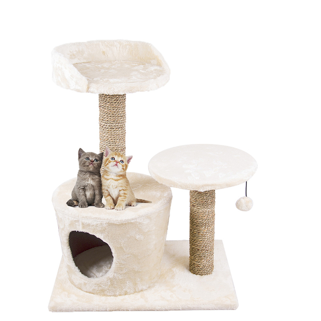 25inch Cat Tree Condo Furniture Kitty Playhouse With Scratching Post