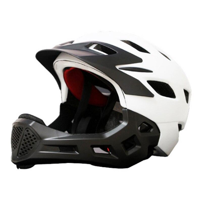 все цены на Outdoor Professional Sport Skateboard Skating Helmet Children Mouth Protection Full-covered Roller Helmet Ultralight 370g онлайн