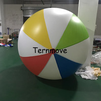 free shipping 2m outdoor sport games colorful inflatable beach ball giant toy ball for kids mix color pvc helium balloon