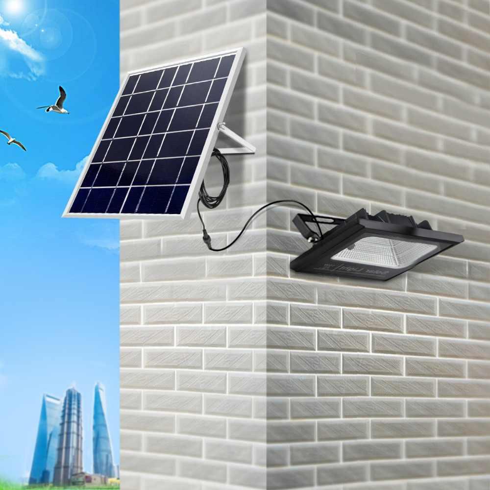 10 Вт высокой мощности Светодиодный свет сад уличные светильники на солнечной батарее водонепроницаемая лампа омывающего света прожектор лампа с ночным датчиком пульт дистанционного управления