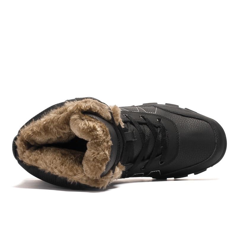 Antidérapantes Hiver Imperméables Coton Bottes Hommes Nouvelle Grand Chaud Neige orange 2018 Noir Chaussures Rembourré Code Mingpinstyle De Y0pW4xw