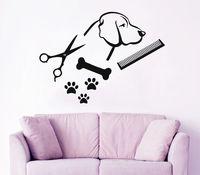 Köpek Duvar Çıkartması Pet Shop Vinil Sticker Paw Prints Pet Tımar Salon Dekor