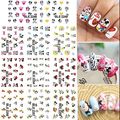 Larger Set  (11 DESIGNS IN One) Mouse Water decal Nail Stickers Cartoon design nail sticker-NEW DecalBLE2248-2258