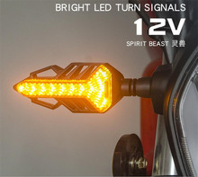 SPIRIT BEAST Universal LED Turn Signal Motor Highlight 12V Light Assembly CB190 Motorcycle Lamp Decoration