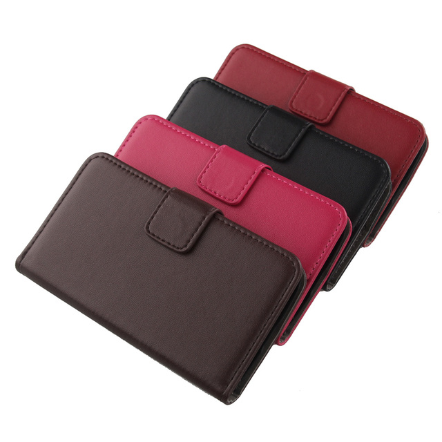 LINGWUZHE Magnetic Buckle Real Genuine Leather Cell Phone Case For Samsung Galaxy Core Prime LTE SM-G3606