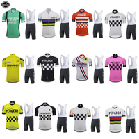 NEW Retro cycling jersey men set 9D gel breathable pad top team bicycle clothing summer Maillot ciclismo all Variety select