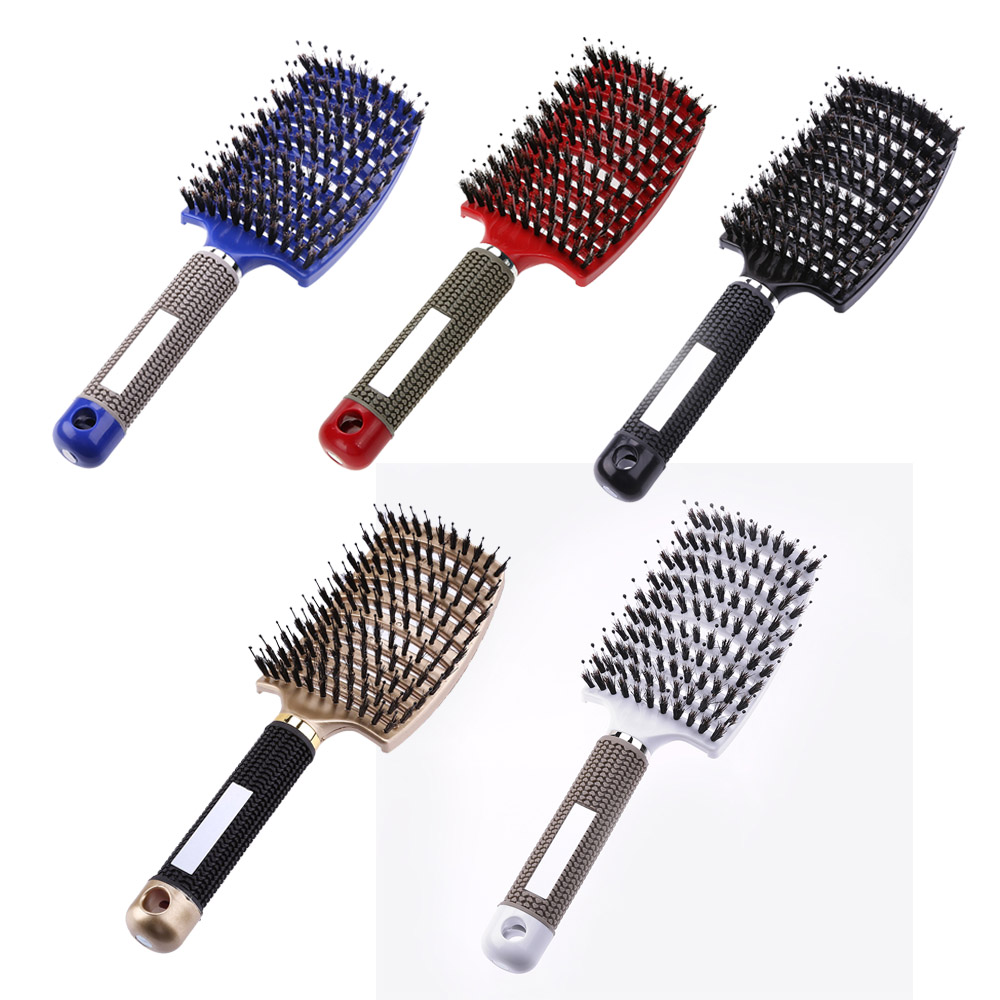 Massage-Comb Hair-Brush Salon Hairdressing-Styling-Tools Detangle Curly Women Nylon Wet