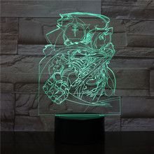 USB 3D LED Night Light Edward Elric Figure Boys Child Kids Baby Gifts Japanese anime Fullmetal Alchemist Table Lamp Bedside neon