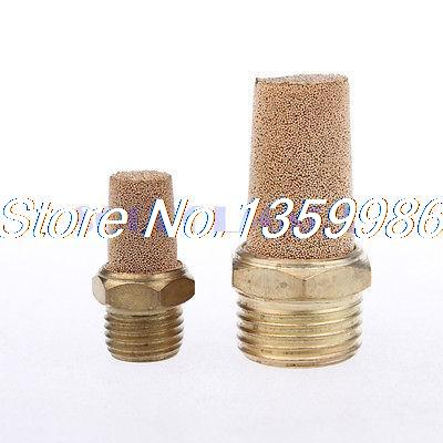 30Pcs 1.18 x 1/4 PT Thread Sintered Pneumatic Air Exhaust Silencer Muffler 3 x adjustable 1 4 pt thread sc sintered bronze exhaust muffler throttle valve