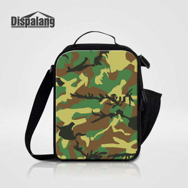 dispalang insulated lunch cooler bag with shoulder straps cool camo