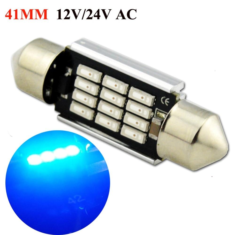 2x C10W Festoon 42mm 264 Ultra Bright 4 LED SMD SV8,5 Yellow Interior Bulbs A