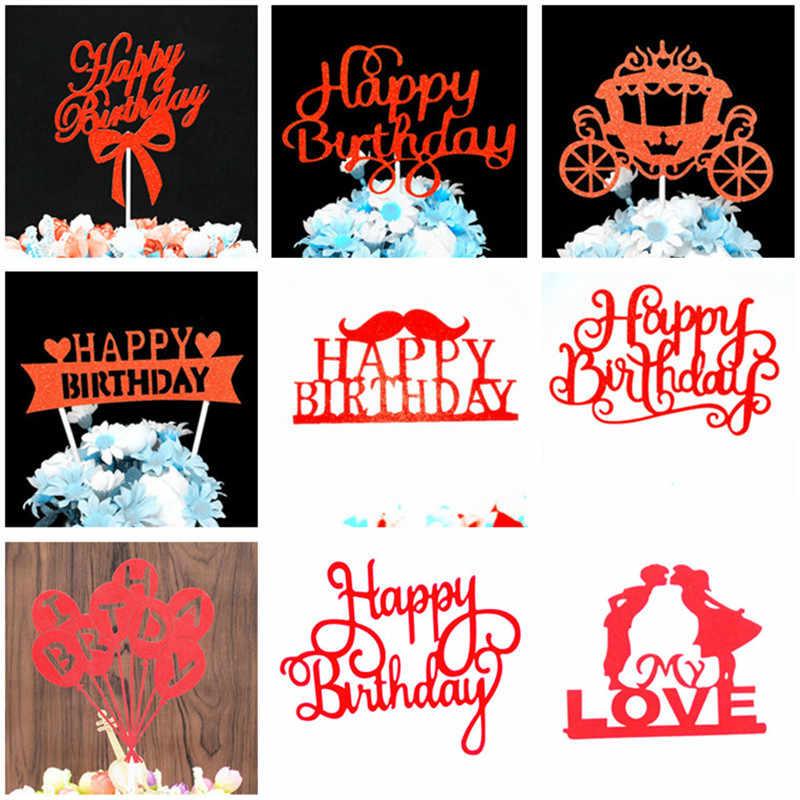 Кекс Toppers украшения на день рождения Дети мальчик торт топперы на день рождения, детский душ вечерние сувениры счастливое украшение для именинного торта