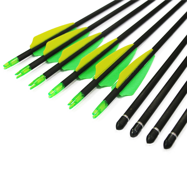 Pure carbon arrow shaft spine 400 competition use shooting aim arrow 12pcs