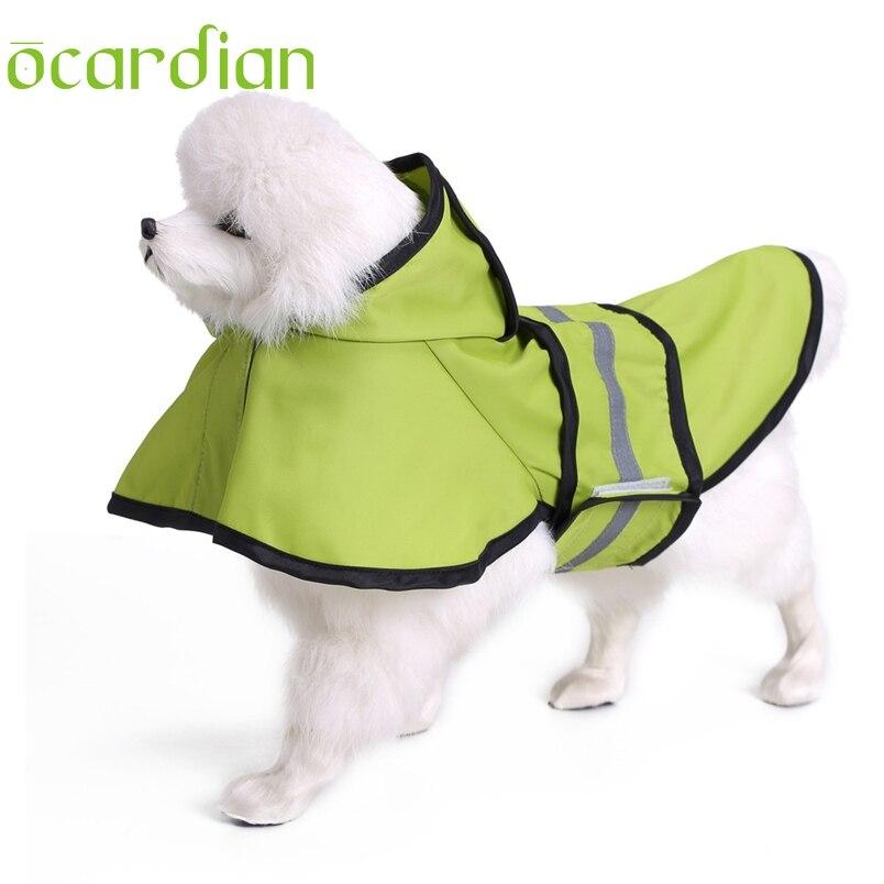 Ocardian dog clothes rain coat Fashion Pet Dog Raincoat Pet Slicker Big Dog Raincoat good for Rainy Days*30 GIFT 2017