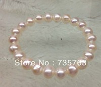 xiuli 00139 wholesale 10 Qty Genuine 9mm white freshwater pearl stretch Bracelets
