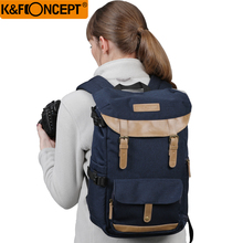 K&F CONCEPT Large Capacity Multi-functional Waterproof Camera Backpack Travel Bag With Chest Belt Hold SLR Tripod
