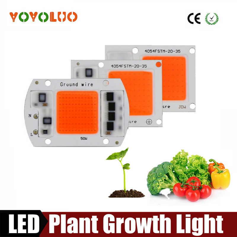 LED COB Chip For Grow Plant Light Full Spectrum AC220V 50W 30W 20W For Indoor Plant Seedling Grow and Flower Growth Lighting