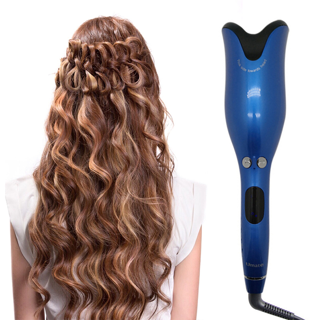 Automatic Hair Curler Wand Curl 360 Degree Magic Roller Curling Iron Rotating Spin Ceramic Salon Hair Styling Tools Dropship 4