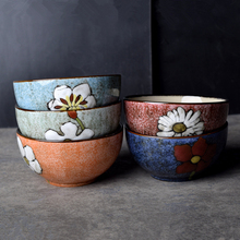 Useber Handmade Ceramic Bowl Western Restaurant Dish Bowl Salad Bowl 5 Inch Rice Bowl Home Restaurant Party Exquisite Gifts